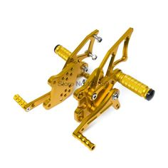 91.22$  Buy here - http://alizwd.worldwells.pw/go.php?t=32604640900 - Adjustable Pedals CNC Motorcycle Rearset Rear Set Footrest Pegs for Yamaha YZF-R25/R3 2014 2015 2016 Gold 91.22$