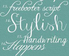 free fonts; really creative blog :)
