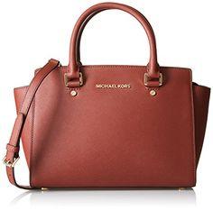 Michael Kors - Selma, Orange (Brick) <3  Ein absolutes Schmuckstück unter den Taschen!  Für euch entdeckt. - Über unseren Shop erhältlich.  #MichaelKors #loveIt #Handbag #lovely #Beautiful