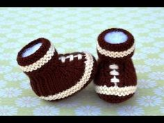 How to Knit Football Baby Booties Part 1