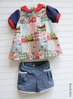 Oliver + S puppet show tunic & shorts by leaandlars, via Flickr