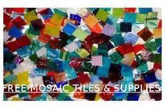 Free mosaic tiles & supplies available at Mosaic Tile Mania!  Click photo to learn more.