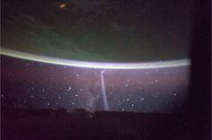 Comet seen from ISS close to sunrise over Australia