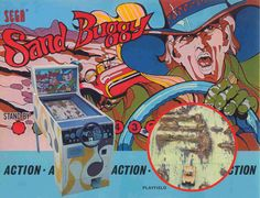 Sega Sand Buggy coin operated car driving arcade game Arcade Game Machines, Arcade Games, Sale Flyer, Game Sales, Old Coins, Vintage Games, Pinball, Dune, The Past