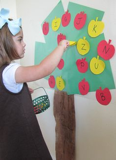 Peel and learn apple tree activity