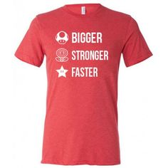 Bigger Stronger Faster Shirt For Men - Nerd Workout Shirt - Men's Geek Gym Shirt #fitness #video #games