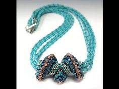 Wave Crest Necklace - Alternating Cellini spiral tutorial by Jill Wiseman on YouTube