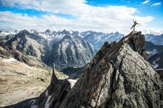 Climber on summit in Ecrins National Park Dan Patitucci @patitucciphoto