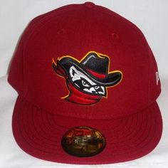 Quad Cities River Bandits Official Fitted All Red Cap