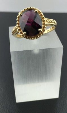 Lady's 14k yellow gold genuine Garnet Etruscan style oval ring in Jewelry & Watches, Fine Jewelry, Fine Rings | eBay