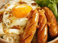 特製生姜醤油のウインナー丼。の画像