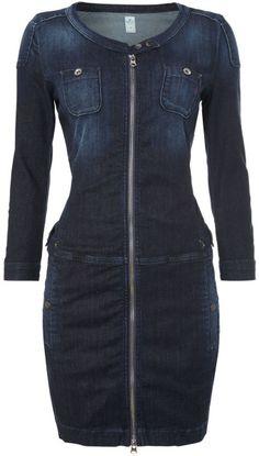 Replay Stretch Denim Dress in Blue