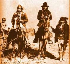 """Geronimo - Many consider he was the ultimate Apache war leader. Also on horseback, beside him, Naiche, son of Cochise, ceremonial chief of Chiricahua """"Chokonen'dé"""" Apaches Apache Indian, Native Indian, Native Art, Native American History, Native American Indians, Native Americans, American Art, American Life, Geronimo"""