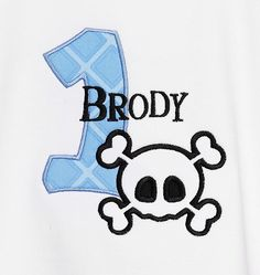 Boys Skull Personalized Little Rebel  by bowdaciousbaby2 on Etsy, $18.00