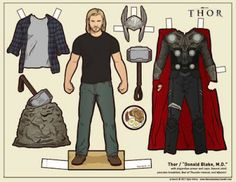 Donald Black - Thor paper dolls | ... - Free Papercraft, Paper Models and Paper Toys