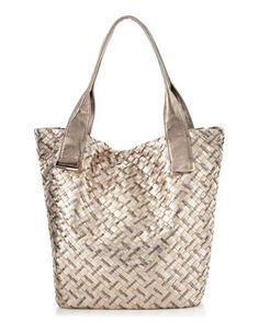 Elliott Lucca Elliott Lucca, Intreccio Tote Bag, Metallic on sale at Last Call - Online