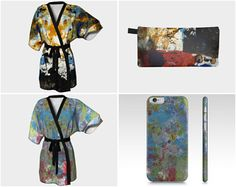 A kimono with a matching zippered pouch or a kimono with a matching phone case would be way fun. #etsy