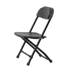 Kids Black Plastic Folding Chair | FoldingChairs4Less.com