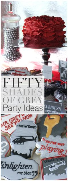 Tips for hosting  a Fifty Shades of Grey Party from CatchMyParty.com. We've even got free printables for your to decorate your own party! See the film in theaters Valentine's Day.