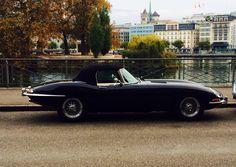 E type Jaguar convertible  black