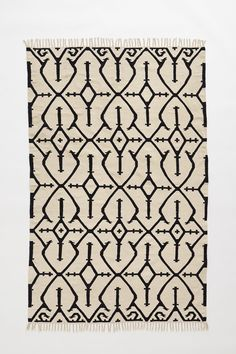 flat weave wool area rug black white cross hatch pattern