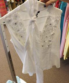 Black center flower blouse