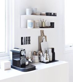 Discover recipes, home ideas, style inspiration and other ideas to try. Coffee Corner Kitchen, Coffee Room, Coffee Bar Home, Home Coffee Stations, Studio Kitchen, Kitchen Wall Art, Kitchen Decor, Küchen Design, House Design