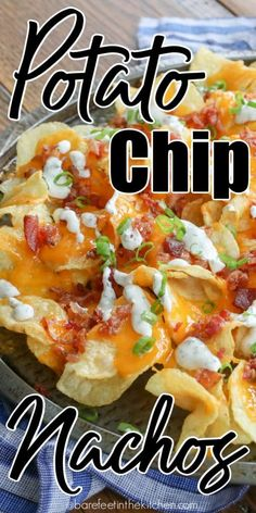 The Ultimate Potato Chip Nachos Healthy Dinner Recipes, Mexican Food Recipes, Cooking Recipes, Kitchen Recipes, Healthy Food, How To Make Nachos, Bbq Chicken Nachos