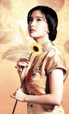 Vivian Chow 周慧敏 in Chinese Qipao dress