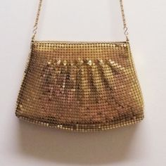 Vintage Gold Mesh Shoulder Bag For your inner Zsa Zsa! Dress it up, dress it down, one thing is for sure: this bag will make a statement!     Vintage Designer: Y&S Original  Circa: 1970's   Dimensions: -  Condition: Excellent Vintage Bags