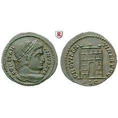 Römische Kaiserzeit, Constantinus I., Follis 324-325, vz: Constantinus I. 307-337. AE-Follis 20 mm 324-325 Lyon. Kopf r. mit… #coins