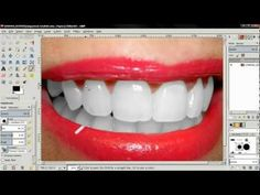 Whiten Teeth - GIMP 2.8 Tutorial - YouTube