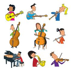 music Easy Drawings For Kids, Music Illustration, Music Clips, Music Theater, Music Decor, Music Activities, School Art Projects, Music For Kids, Music Classroom