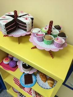 Dramatic play bakery & ice cream shop.                                                                                                                                                                                 More