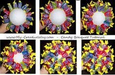 My Creative Way: Tutorial: How to make a Candy Bouquet.