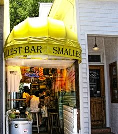 Smallest Bars in the World: The 72-square-foot Smallest Bar is tucked away in a corridor on busy Duval Street, in Key West, Florida. (Heather Williams)