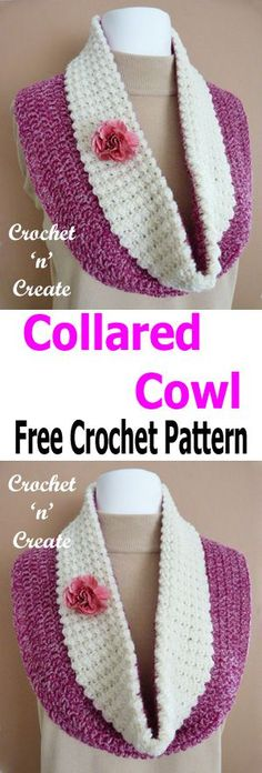 A comfortable collared cowl that will look smart and add a little sophistication to your favorite outfit when made in complimentary colors, the .......