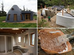 As construções em superadobe são feitas basicamente pelo empilhamento de sacos preenchidos com terra, formando as paredes.