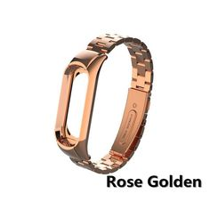 mi band 3 replacement Metal wrist strap Stainless Steel Bracelet Wristbands strap for Xiaomi mi band 3 Stainless Steel Bracelet, New Product, Black Silver, Rose Gold, Band, Metal, Bracelets, Accessories, Products