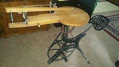 Barnes velocipede  no.2 pedal scroll saw with  boring attachment