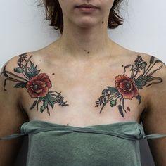 Poppies, rye and wheat a/ symmetry by Olga Nekrasova Forearm Tattoos, Body Art Tattoos, Girl Tattoos, Tattoos For Guys, Sleeve Tattoos, Tattoos For Women, Tattooed Women, Tatoo Nature, Mother Nature Tattoos