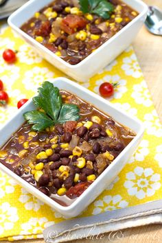 Fiesta Black Bean Soup - great make ahead and freeze meal that's also vegan