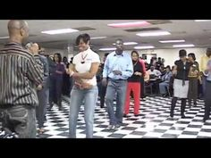 Purple Charlotte Steppers doing Chuck Baby Line Dance