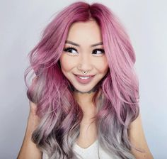 101 Pink Hair Ideas You'll Love @stylecaster | Pastel pink to silver-y blue—like cotton candy!