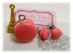 Kawaii Fashion Accessories Handmade Rose Macaron Charms, Pendant, earrings.