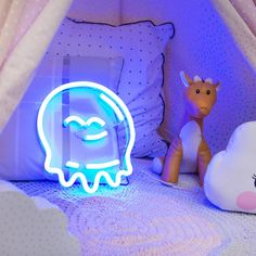 Neon Republic Australia - Ready-to-buy & custom LED neon signage and Enamel Pins. Neon Signs Home, Blue Bird, Clear Acrylic, Baby Room, Signage, How To Apply, Shapes, Octopus Squid, Cute