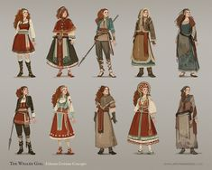 """Sam Hogg on """"I 💜 the tag. I'm Sam, senior concept artist and illustrator in the games industry. Creator of the Whaler Girl, a tale of a Fantasy Character Design, Character Creation, Character Design Inspiration, Character Concept, Character Art, Concept Art, Character Costumes, Dnd Characters, Fantasy Characters"""