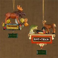 Pack of 24 Field & Stream Hunting and Moose Christmas Ornaments