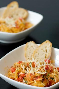 Spaghetti Squash with Tomatoes, Basil, and Parmesan recipe with 280 calories.