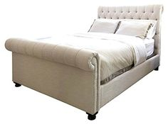 Roll Bed in Seashell Cal King  105 in L x 78 in W x 56 in H * Want additional info? Click on the image.